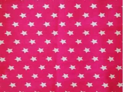 Estrella blanca F.fucsia