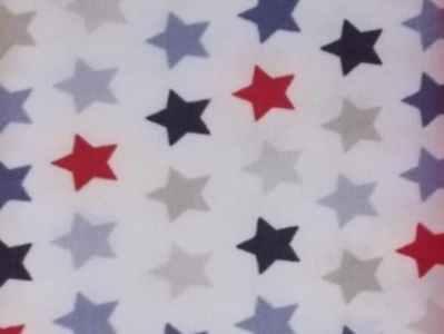 Estrellas roja-azul-celeste-marino