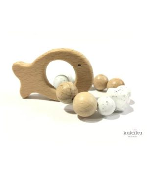 Mordedor figura madera pececito