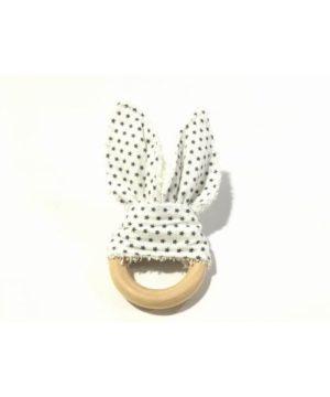 Mordedor tela rabbit puntitos negros