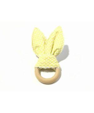 Mordedor tela rabbit amarillo limón