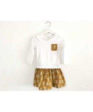 Conjunto falda-camiseta
