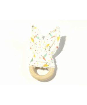 Mordedor tela rabbit blanco-puntitos colores