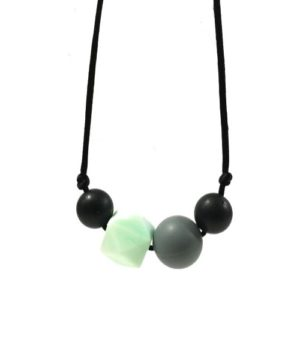 collar lactancia gris-negro-mint