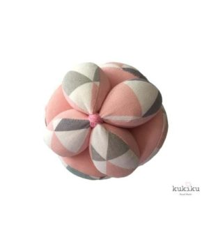 Pelota Montessori rosa-blanco-gris