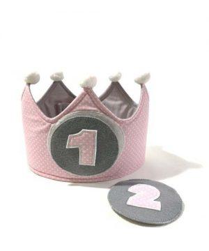 corona cumpleaños rosa 1