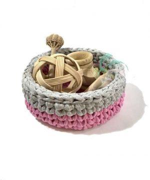 panera de los tesoros natural gris-rosa