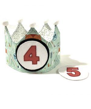 Corona cumpleaños verde mint