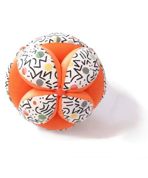 pelota montessori naranja lineas2