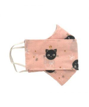 Mascarilla gatito rosa