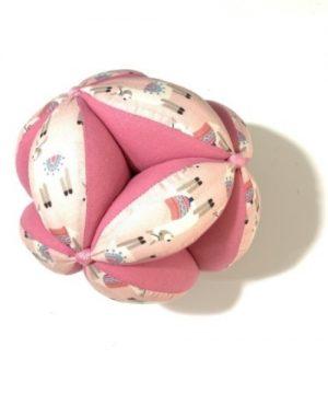 Pelota montessori llama-rosa