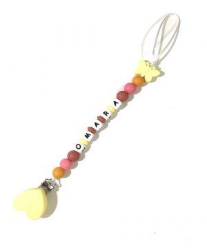 chupetero personalizado mariposa amarilla